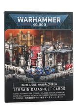 Games Workshop Battlezone: Manufactorum Terrain Datasheet Cards