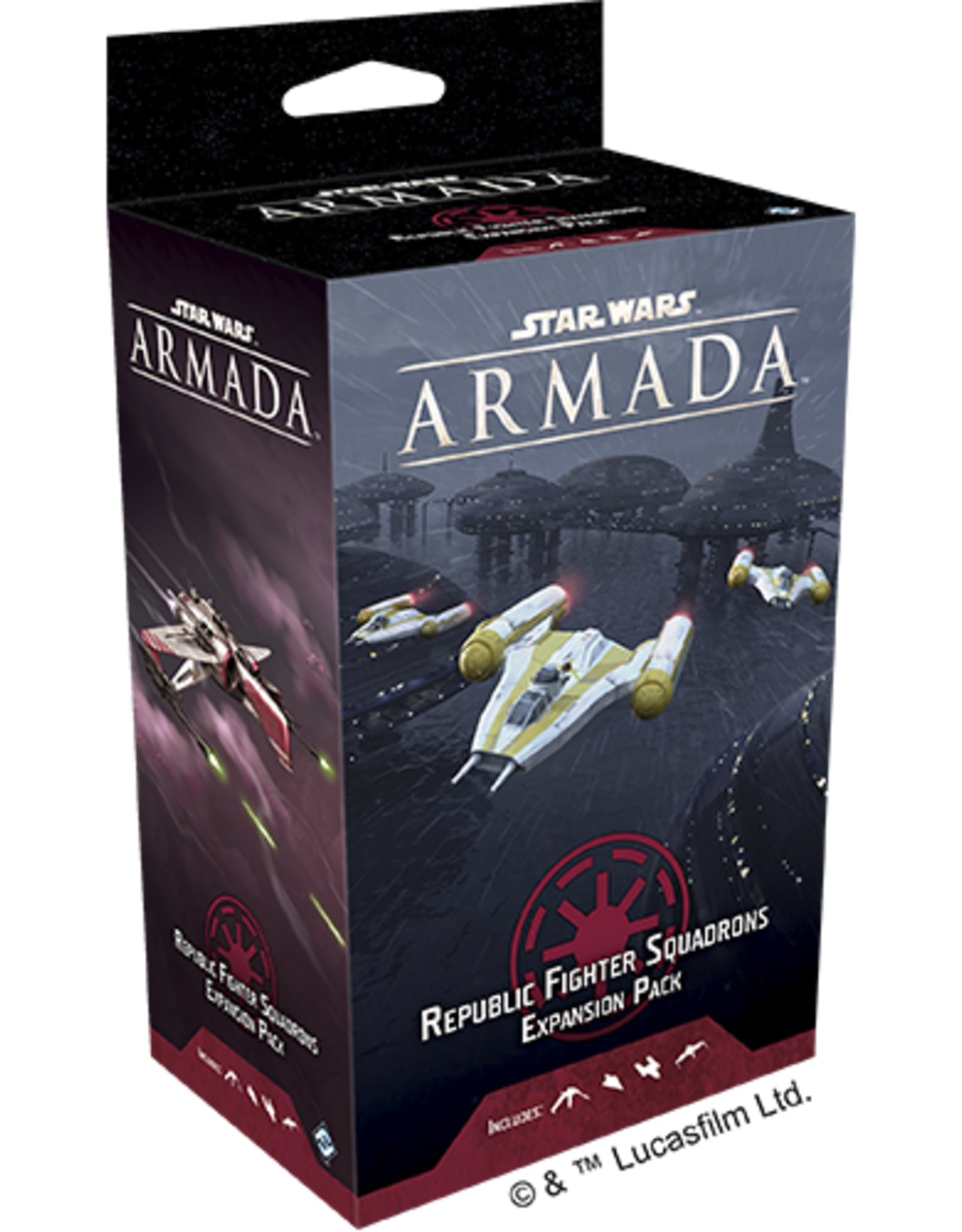 Fantasy Flight Games Star Wars Armada: Republic Fighter Squadrons Expansion Pack