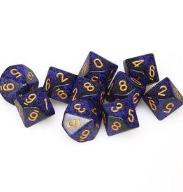 Chessex d10 Clamshell Speckled Golden Cobalt (10)