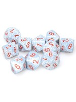Chessex d10 Clamshell Speckled Air (10)