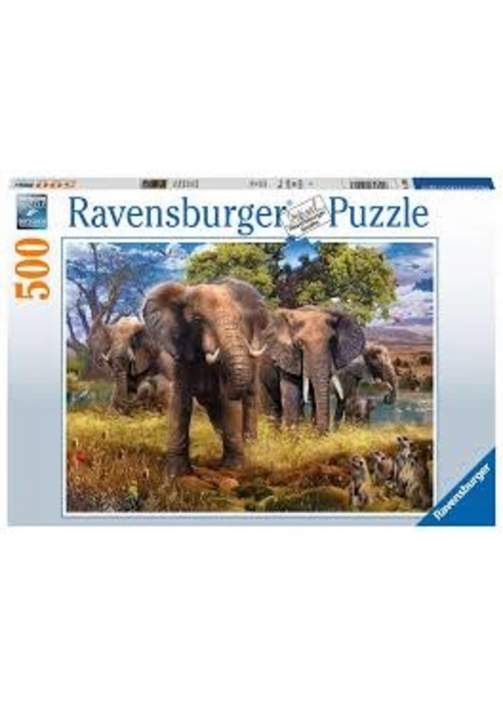 Ravensburger 500pc puzzle Elephant Family