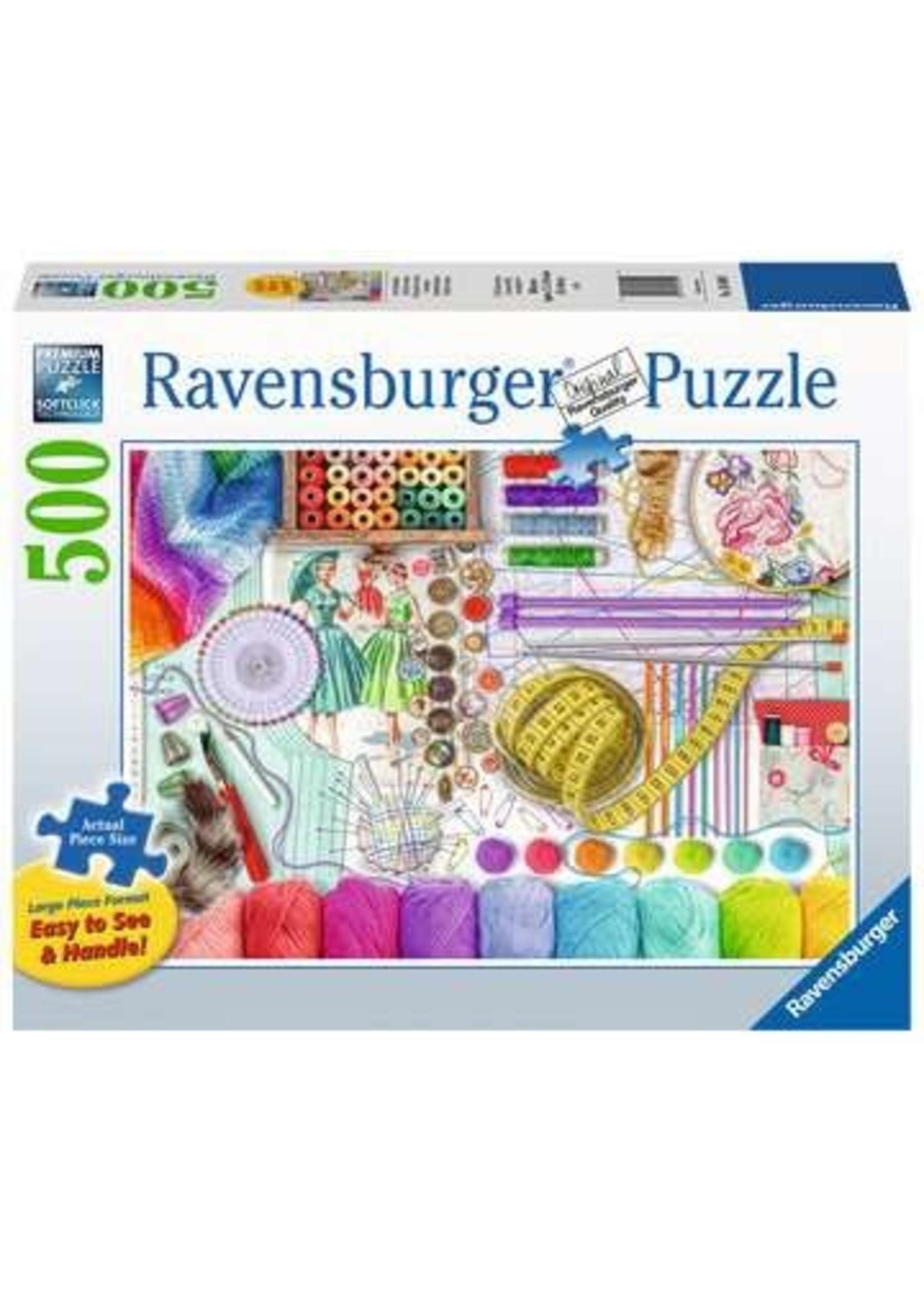 Ravensburger 500pc LF puzzle Needlework Station