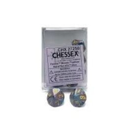 Chessex d10 Clamshell Speckled Yellow Mosaic (10)