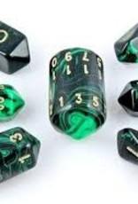 Crystal Caste Spindle Poly 7 set:  Oblivion Green