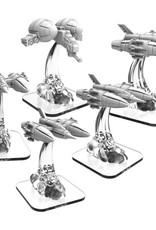 Privateer Press Monsterpocalypse: Zerkalo Bloc LTA Fighters (4) & LTA Gunship (1)