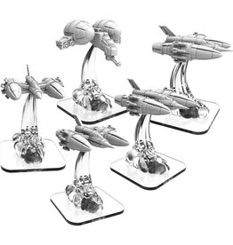 Privateer Press Monsterpocalypse: Zerkalo Bloc LTA Fighters (4) & LTA Gunship (1)