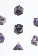 Crystal Caste 16mm Amethyst - large 7 set (gold numbers)