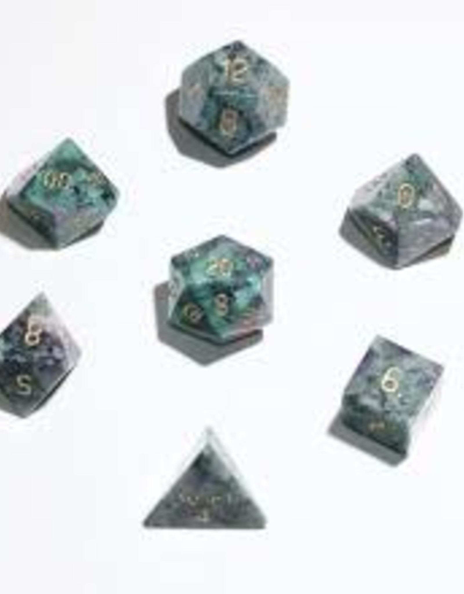 Crystal Caste 16mm Ruby Josite - large 7 set (gold numbers)