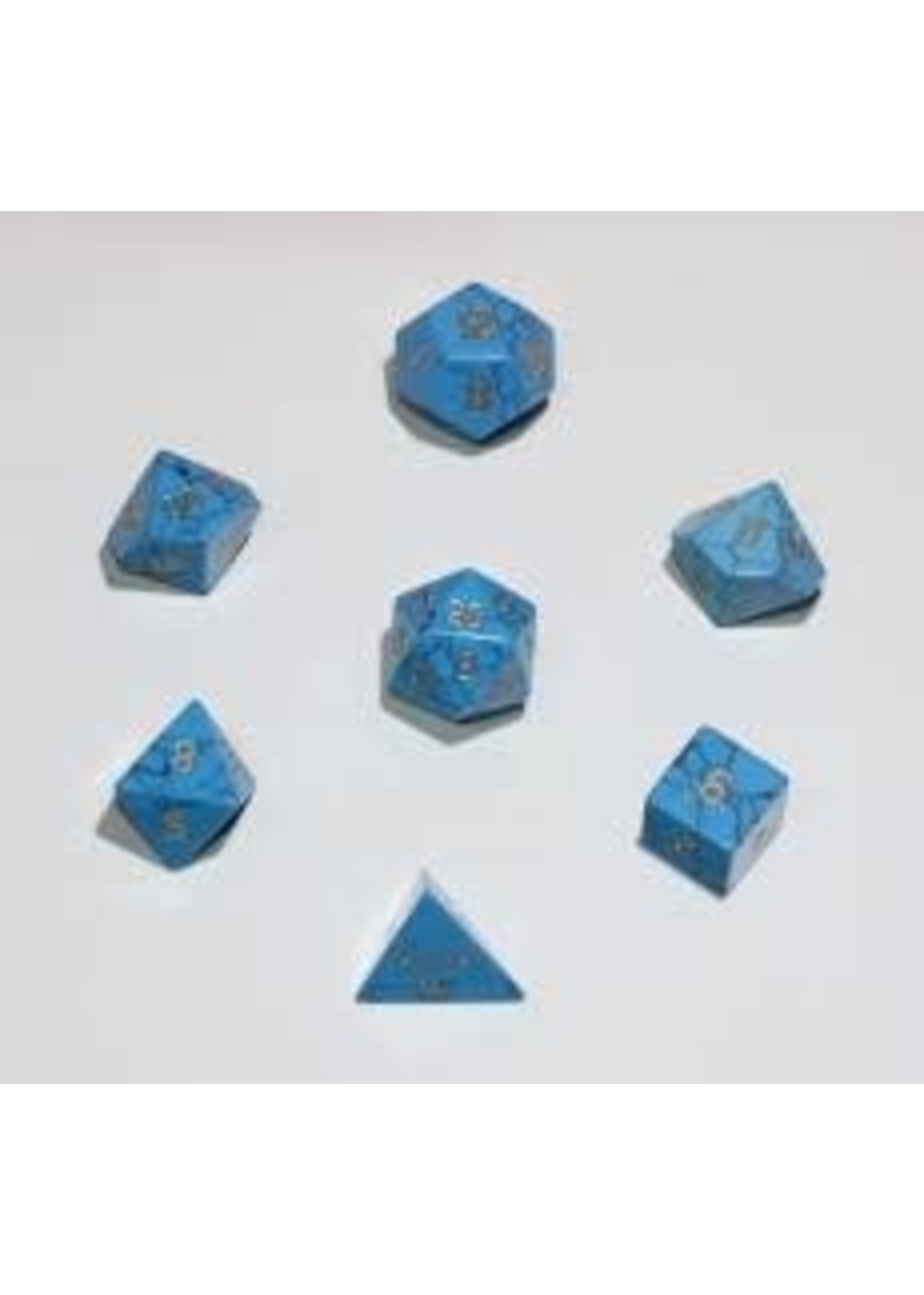 Crystal Caste 16mm Blue Turqoise - large 7 set (gold numbers)