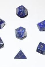 Crystal Caste 16mm Lapis - large 7 set (gold numbers)