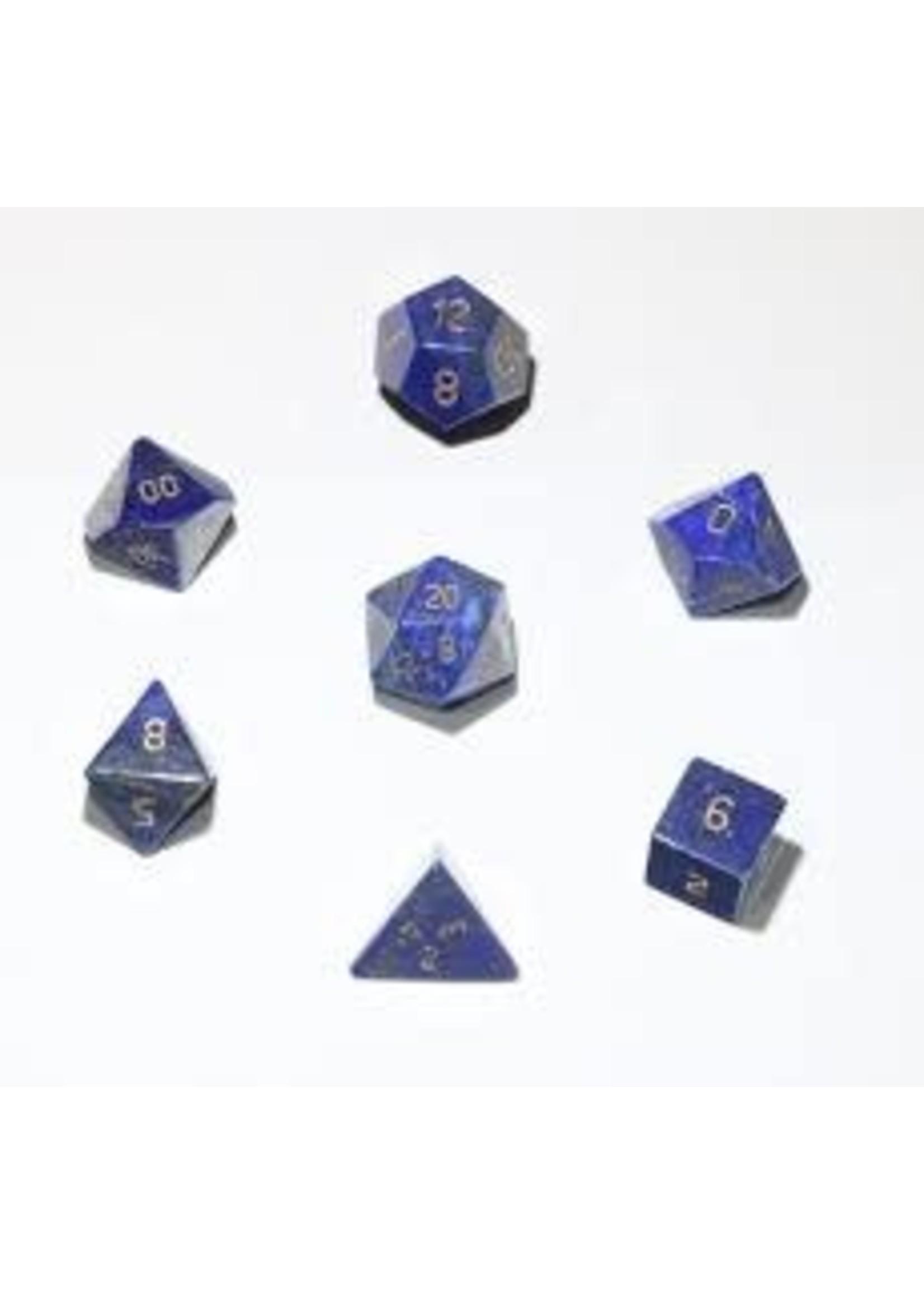 Crystal Caste 16mm Lapis - large 7 set (gold numbers)