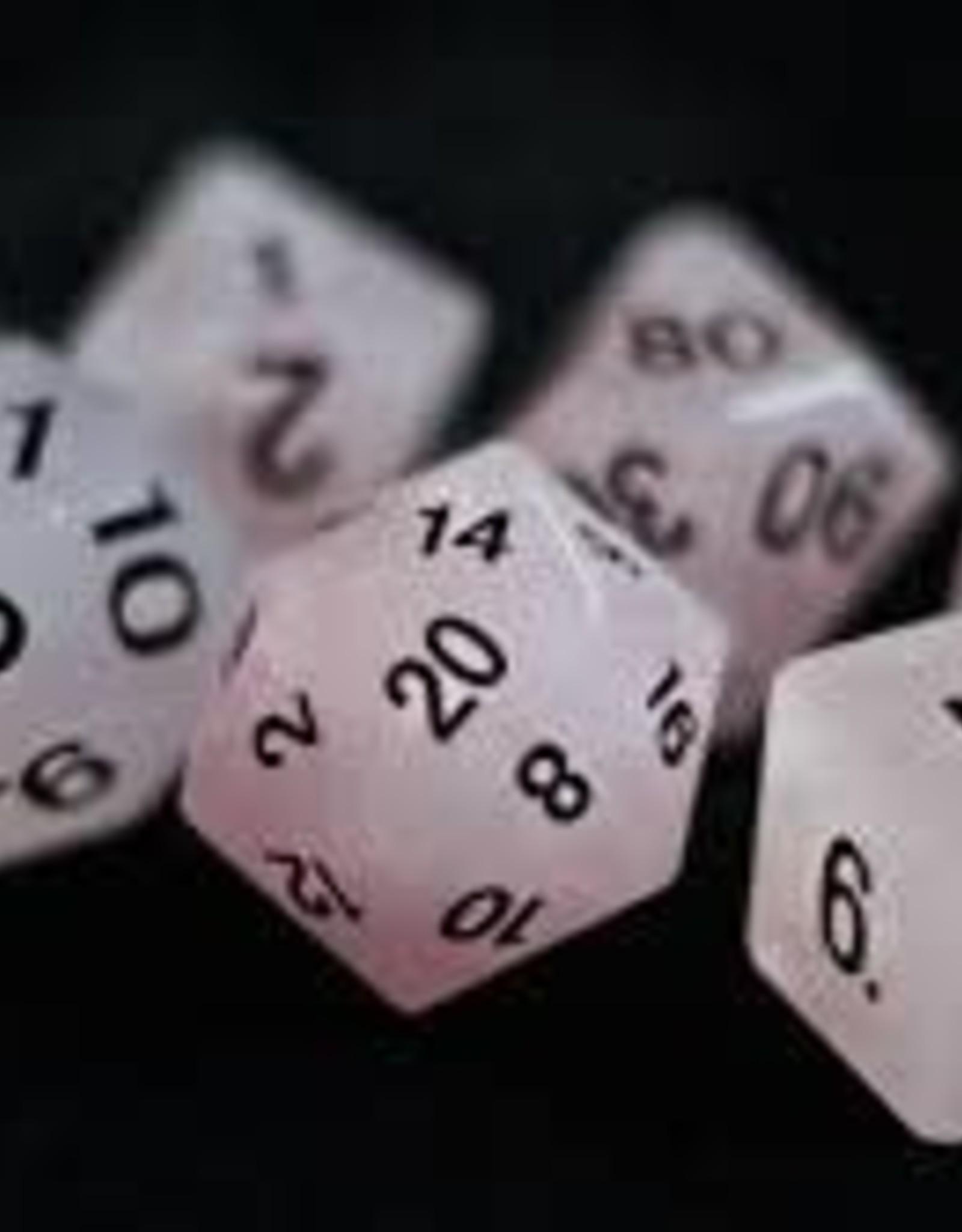 Crystal Caste 16mm Rose Quartz 7 set (black numbers)