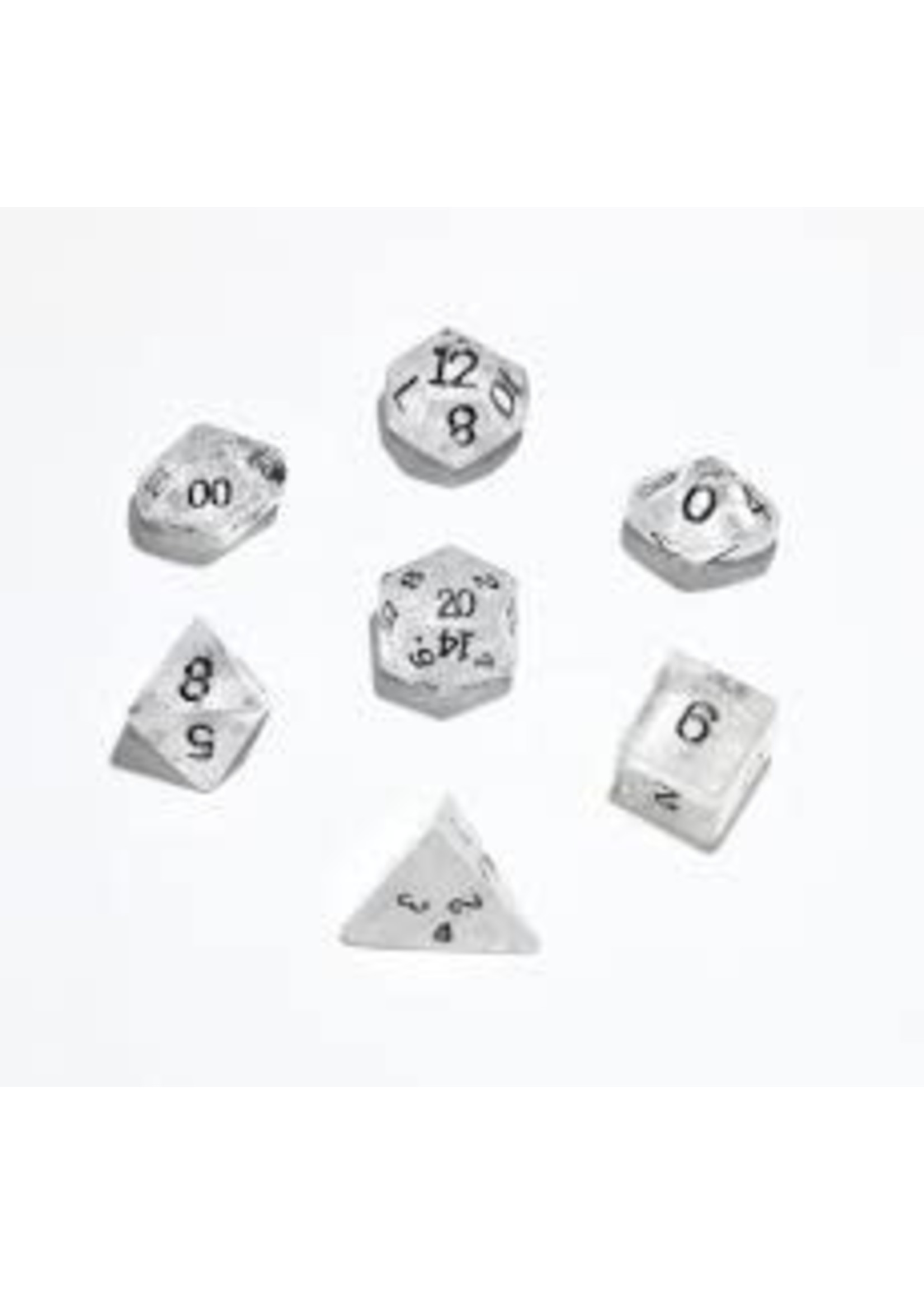 Crystal Caste 16mm Clear Quartz 7 set (black numbers)