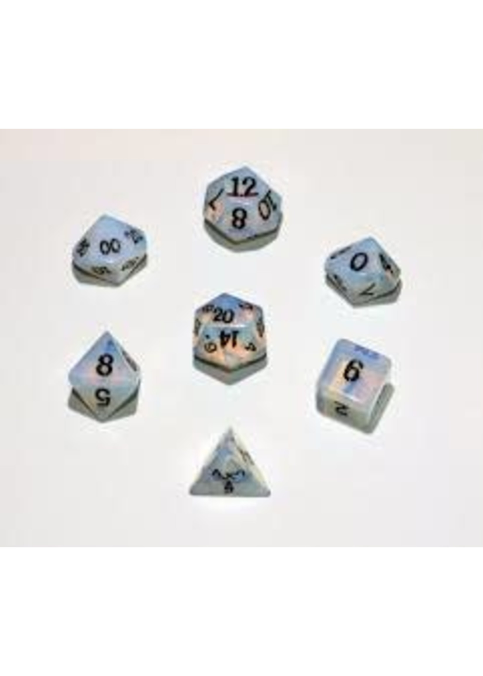 Crystal Caste 16mm Synthetic Opal 7 set (black numbers)