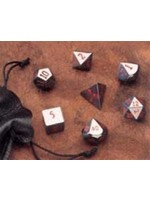 Crystal Caste 16mm Hematite 7 set (red numbers)