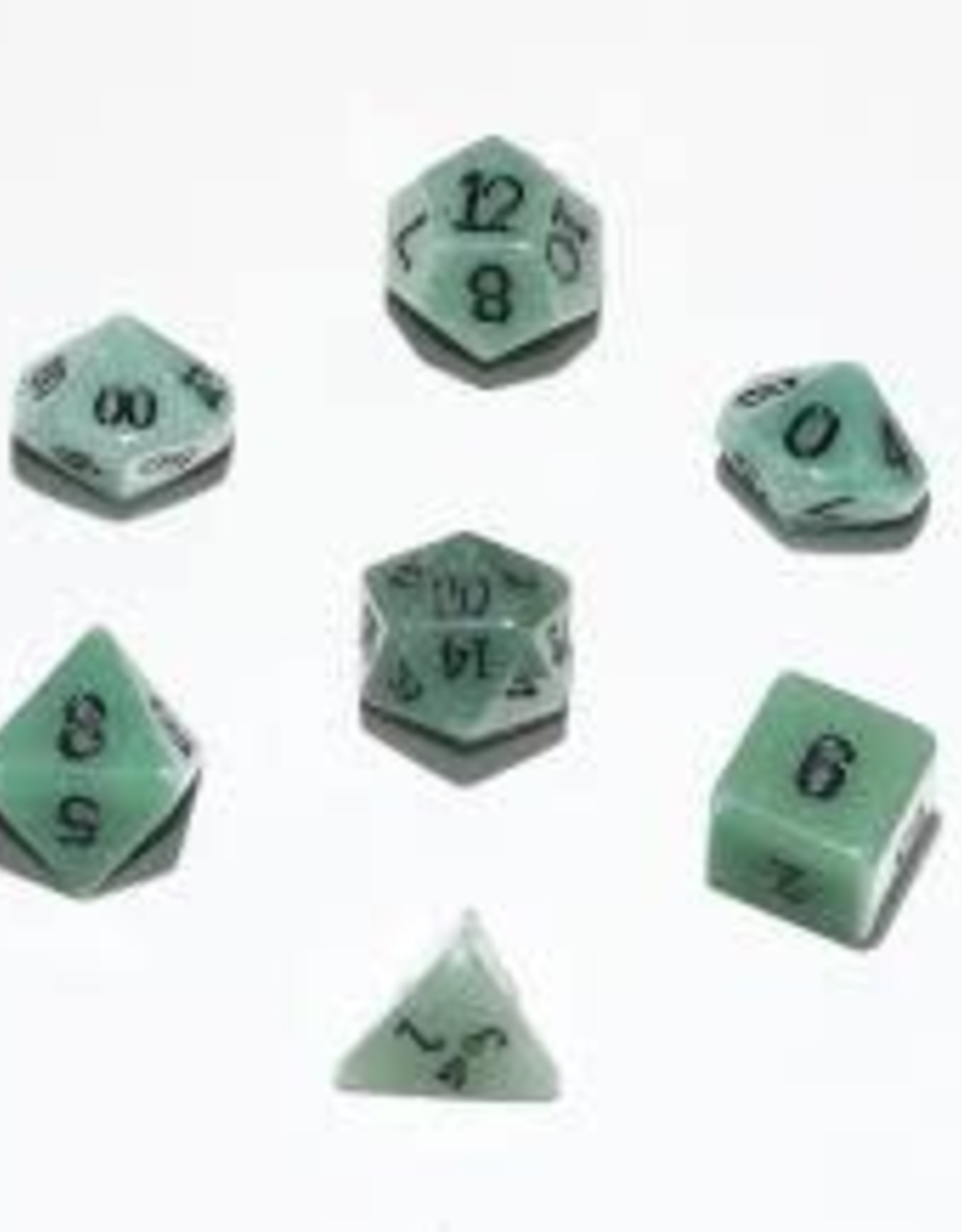 Crystal Caste 16mm Green Aventurine 7 set (black numbers)