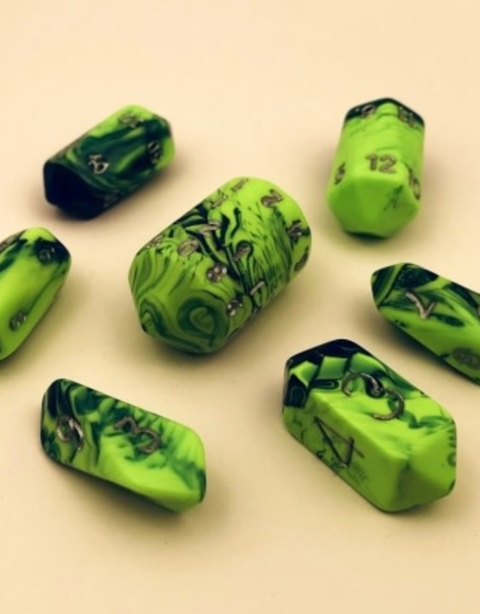 Crystal Caste Spindle Poly 7 set: Toxic Green & Blue