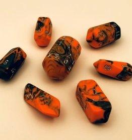 Crystal Caste Spindle Poly 7 set: Toxic Orange & Green