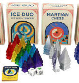 Looney Labs Looney Labs Pyramids 4 Set (Martian Chess, Nomids, Ice Duo, Home Worlds)