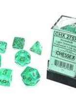 Chessex Borealis Luminary Poly 7 set: Light Green w/ Gold