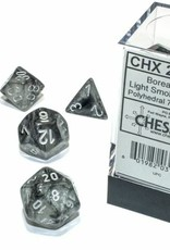 Chessex Borealis Luminary Poly 7 set: Light Smoke w/ Silver