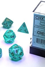 Chessex Borealis Luminary Poly 7 set: Teal w/ Gold