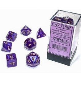Chessex Borealis Luminary Poly 7 set: Royal Purple w/ Gold