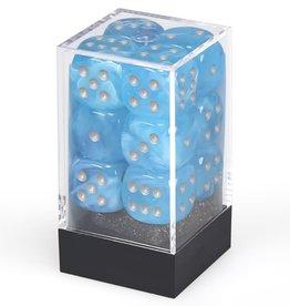 Chessex d6 Cube 16mm Luminary Sky w/ Silver (12)