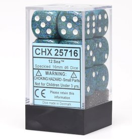 Chessex d6 Cube 16mm Speckled Sea (12)