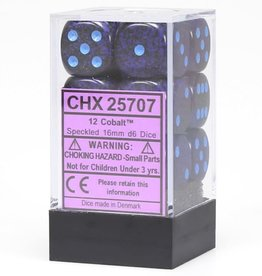 Chessex d6 Cube 16mm Speckled Cobalt (12)