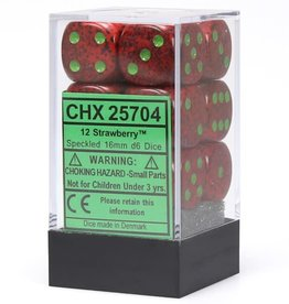 Chessex d6 Cube 16mm Speckled Strawberry (12)