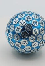 Foam Brain 45mm D100 Blue Silver with Blue Numbers