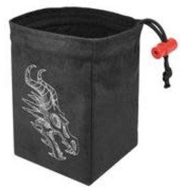 Red King Embroidered Dice Bag: Shadow Dragon Gray
