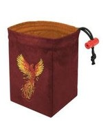 Red King Embroidered Dice Bag: Phoenix Rising Red