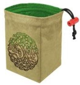 Red King Embroidered Dice Bag: Twisted Tree