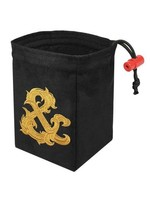 Red King Embroidered Dice Bag: Gilded Ampersand