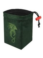 Red King Embroidered Dice Bag: Baroque Dragon