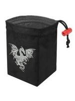 Red King Embroidered Dice Bag: Baroque Smoke Dragon
