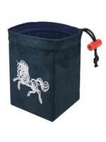 Red King Embroidered Dice Bag: Baroque Unicorn