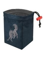 Red King Embroidered Dice Bag: Baroque Wolf