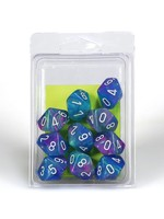 Chessex d10 Clamshell Festive Waterlily w/ White (10)