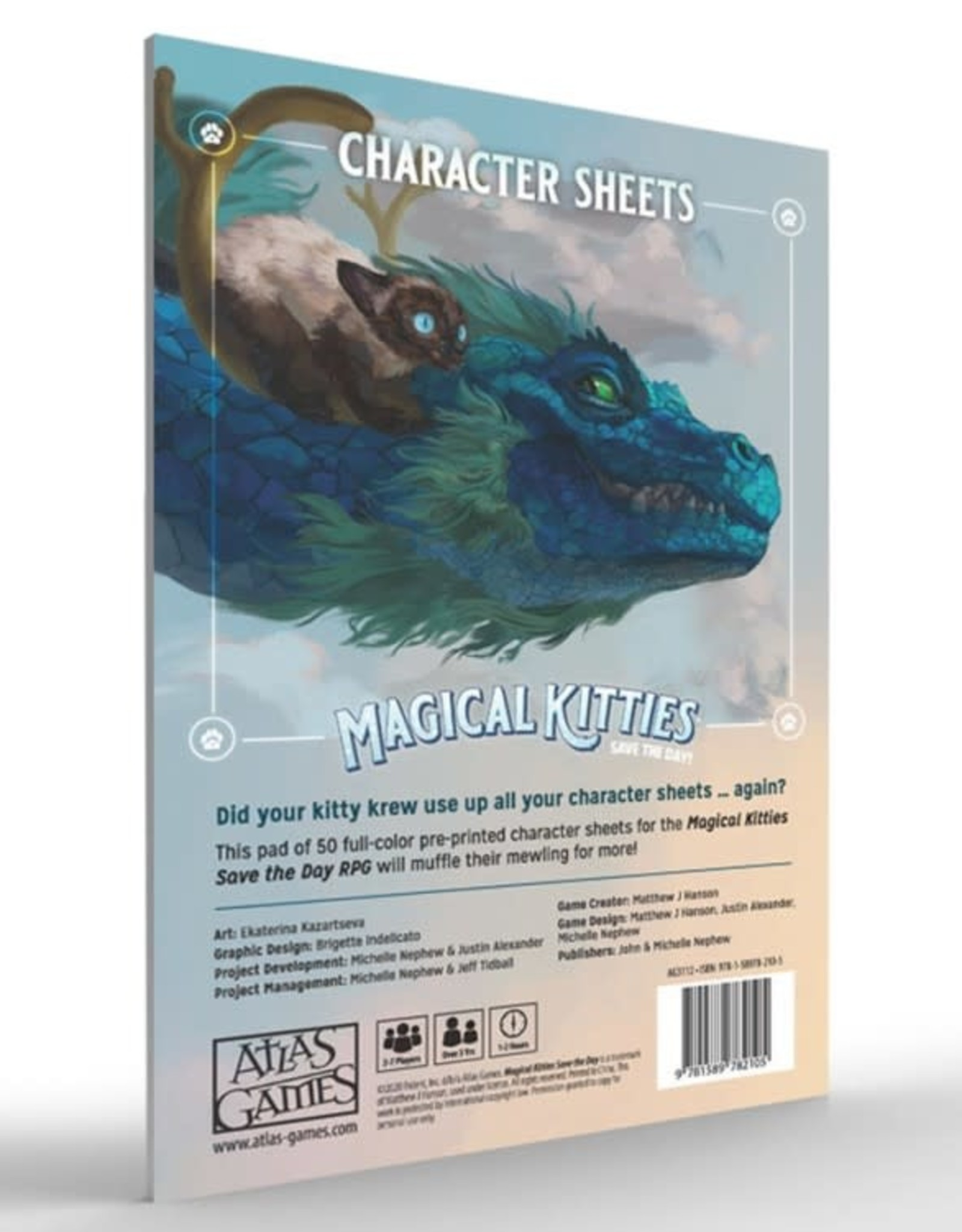 Atlas Games Magical Kitties Save the Day RPG: Kitty Character Sheets