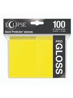 Ultra Pro Deck Protectors: Eclipse Gloss: Lemon Yellow  (100)