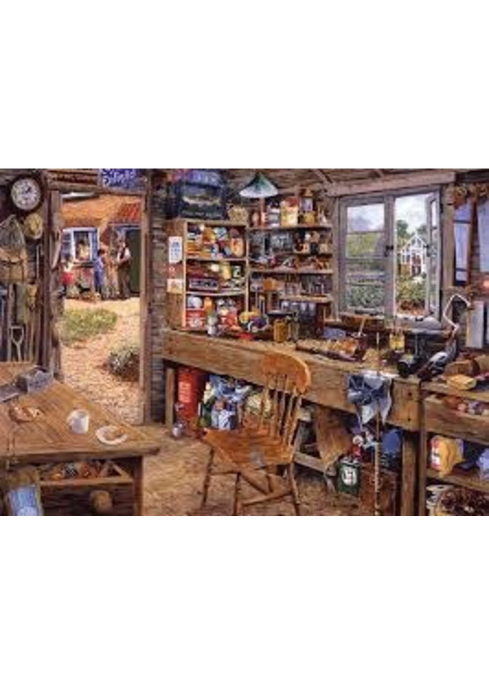 Ravensburger 500pc LF puzzle Dad's Shed