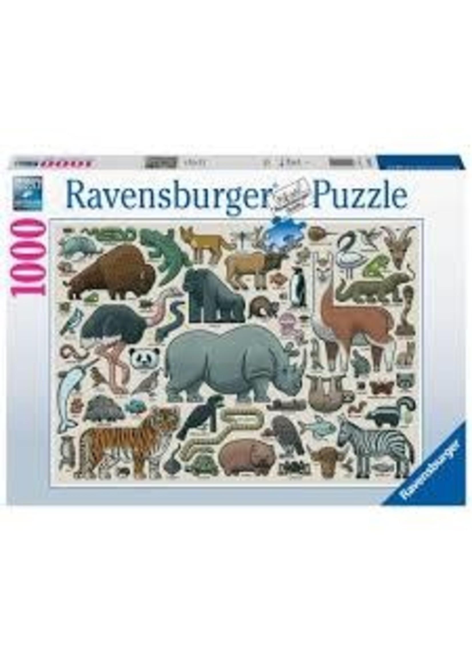 Ravensburger 1000pc puzzle You Wild Animal