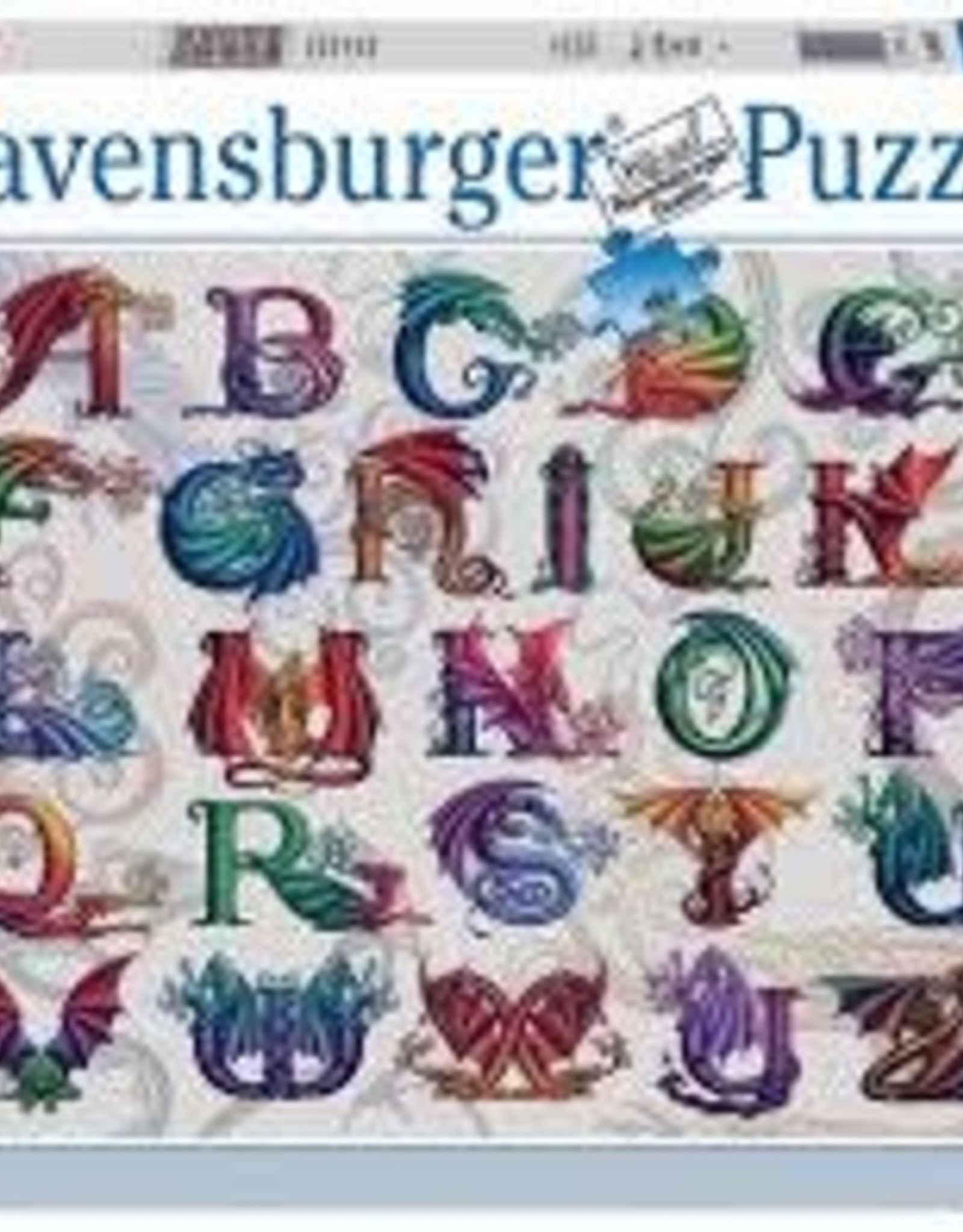Ravensburger 1000pc puzzle Dragon Alphabet