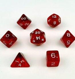 Crystal Caste Translucent 7 set cube: Red