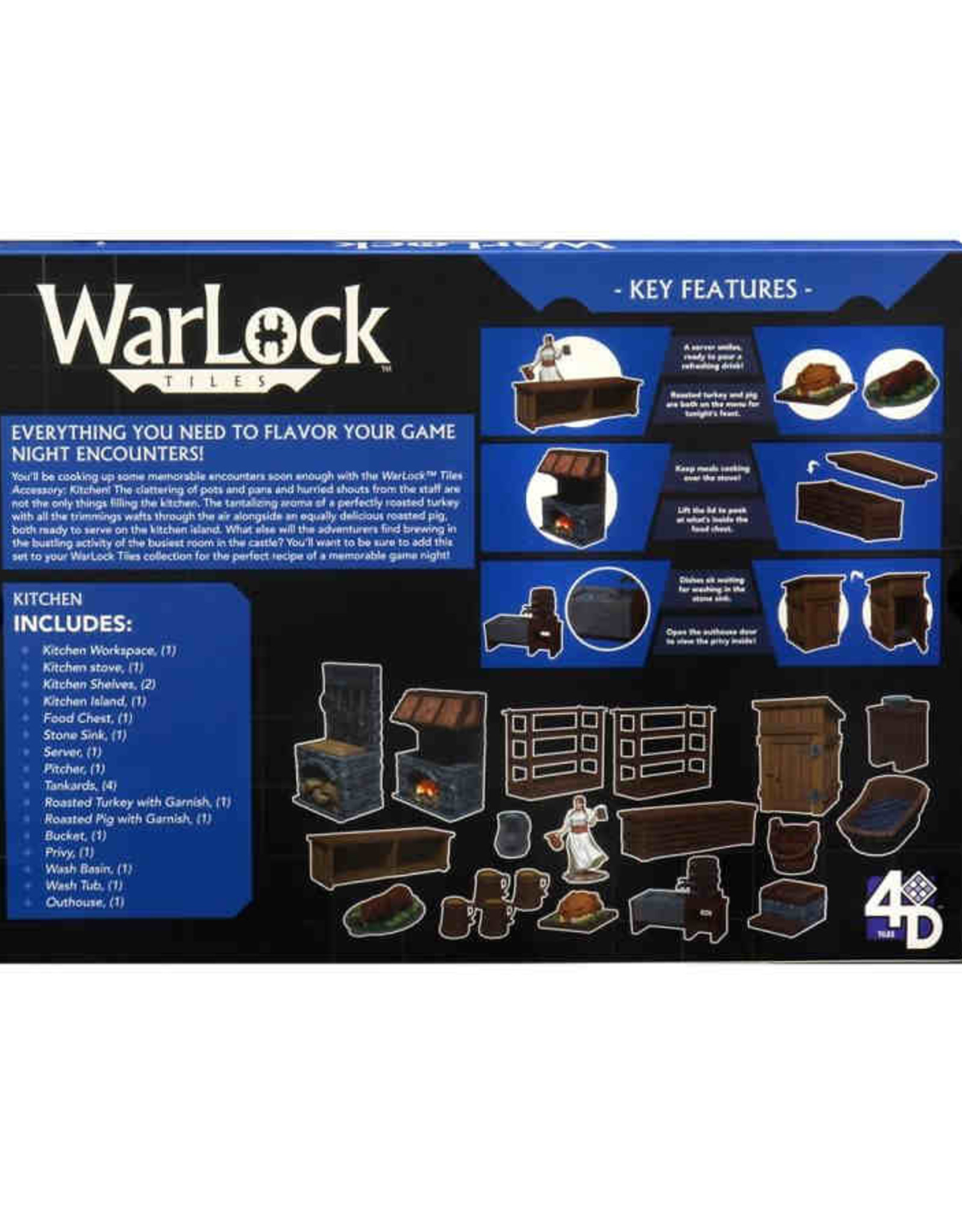 WizKids WarLock Tiles: Accessory: Kitchen