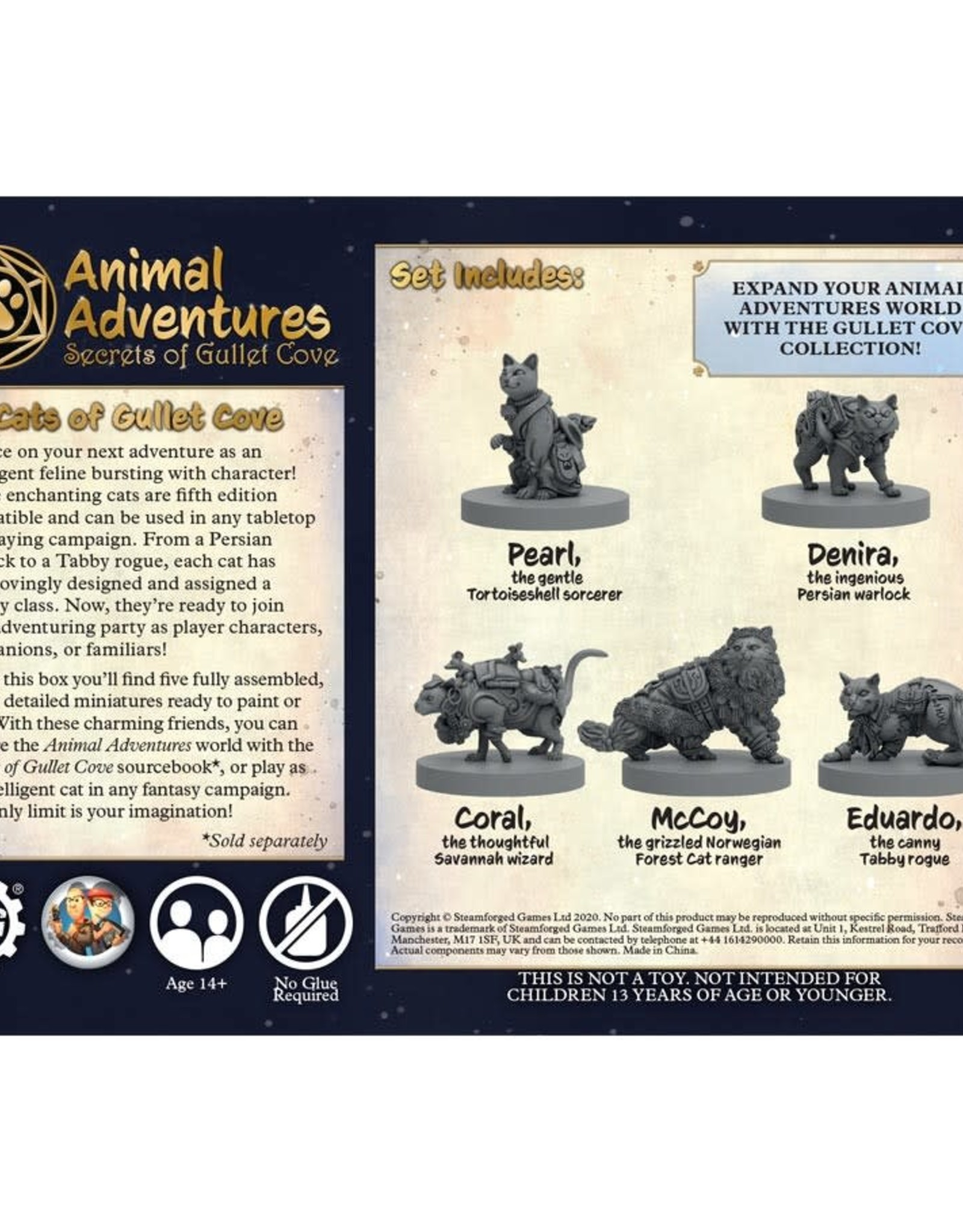 Steamforged Games Animal Adventures: Secrets of Gullet Cove: Cats