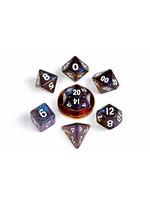 7 set dice: Mini Stardust Galaxy (10mm)
